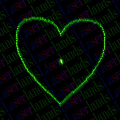 10X Heart Diffraction Gratings Coated Glass Lens f Laser Module Stage Lighting