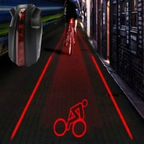 Bike Bicycle Intelligent Laser 5 LED Rear Light Cycling Tail Light C-Type