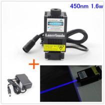 33*55mm 1w 1.6W 2.5w 450nm Blue Dot Laser Module for CNC Engraving Cutting