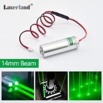 22*70 Fat Beam 532nm 50mW Green Laser Module for KTV Bar DJ Stage Lighting