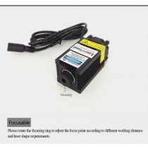Blue 450nm 5.5w Laser module for engraving/marking/cutting w/ PWM/TTL focusable
