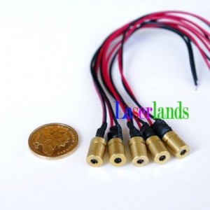 8*13mm 6*10mm 1mW 5mW 650nm Red Dot Focusable Laser Module 3VDC