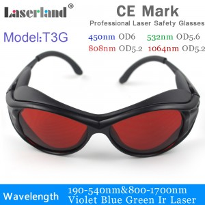 OD5+ 532nm Green Laser Safety Glasses /& Goggles Protective Eyewear OD4